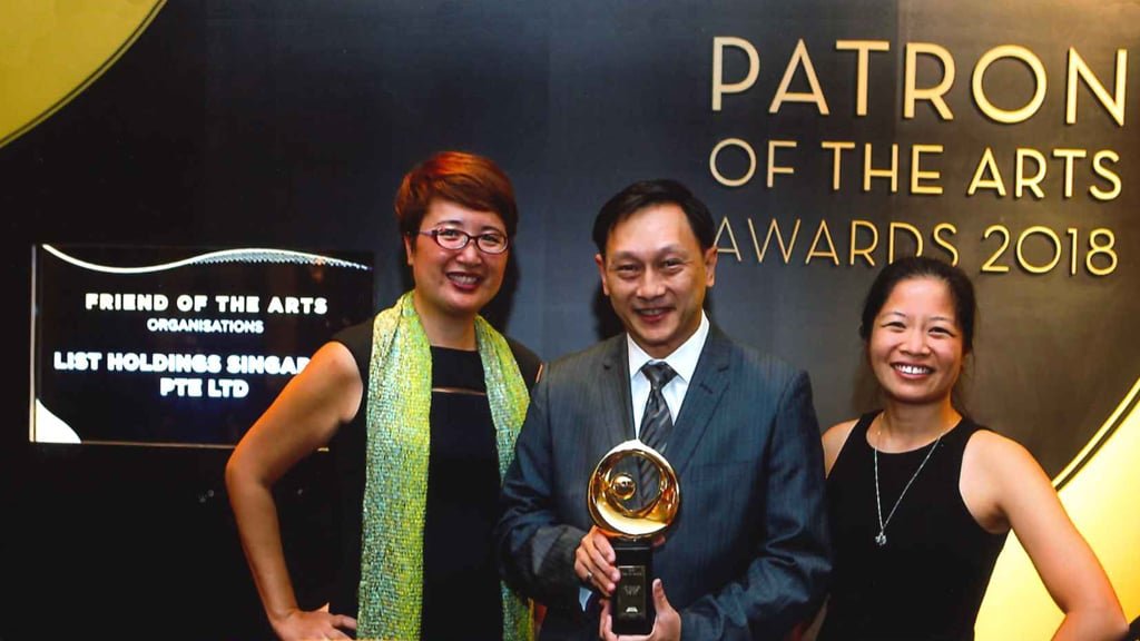 List Holdings Singapore Honoured As Friend Of The Arts